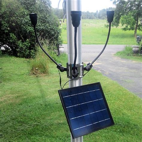 commercial solar flagpole light patriot light greenlytes