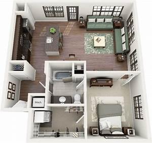 le plan maison d39un appartement une piece 50 idees With salle de bain design avec décor gateau ballerine