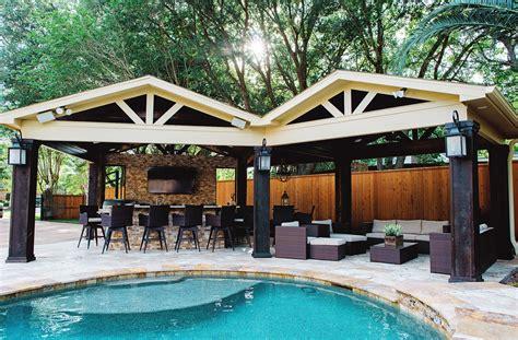 cottage bathroom ideas patio covers and cabanas backyard retreats