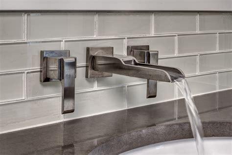 unique bathroom vanity backsplash ideas glass stone