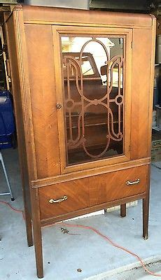 antique china hutch value 1940s deco waterfall front antique china curio display