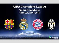 Bayern, Barcelona, Juventus and Real Madrid in Champions