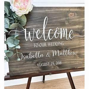 Custom, Wedding, Welcome, Sign, Wood, Rustic, Welcome, Sign, With, Bride, U0026, Groom, Names, Welcome, Sign, Wood