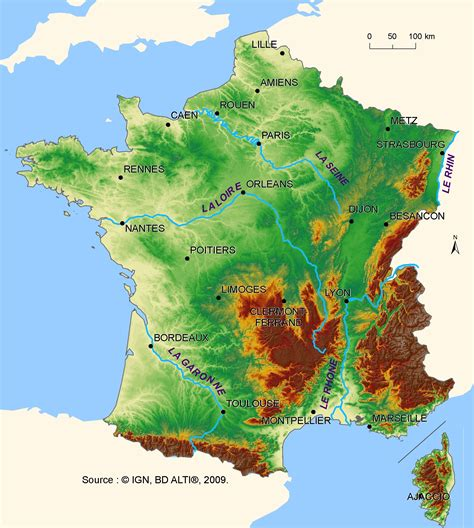 relief  mainland france european environment agency
