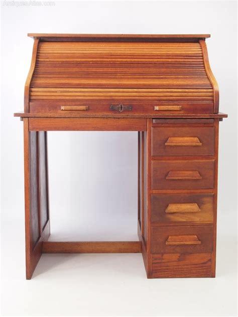 oak bureau desk small oak roll top desk bureau antiques atlas