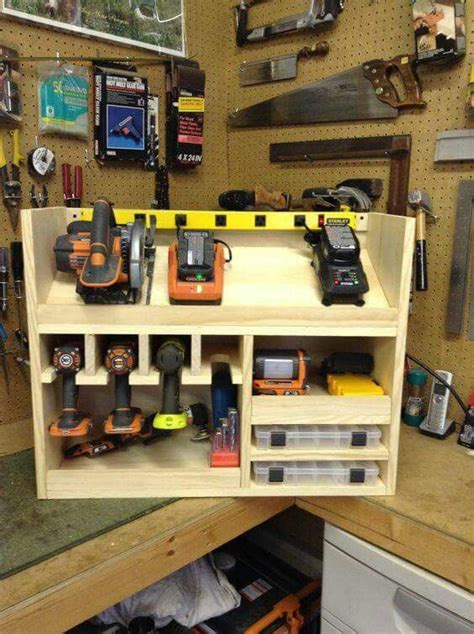 battery charging station power tool storage charging