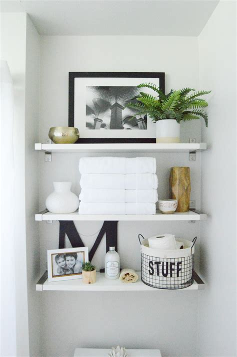 Bathroom Shelves by Styling Shelves Our New Home