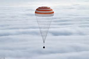 He's home! Scott Kelly's Soyuz spacecraft touches down in ...