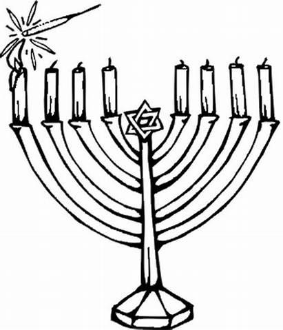 Coloring Hanukkah Pages Menorahs Chanukah Printable Holiday