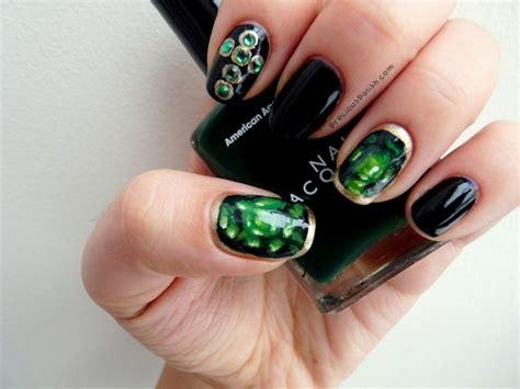 royal emerald green nail designs