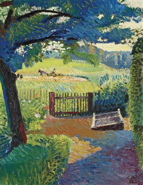 garden overlooking oschwand  cuno amiet wikiartorg
