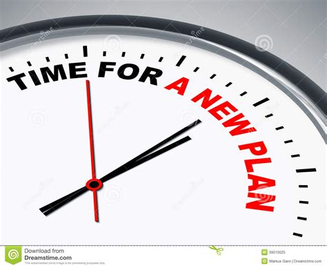 Time For A New Plan Stock Illustration Illustration Of