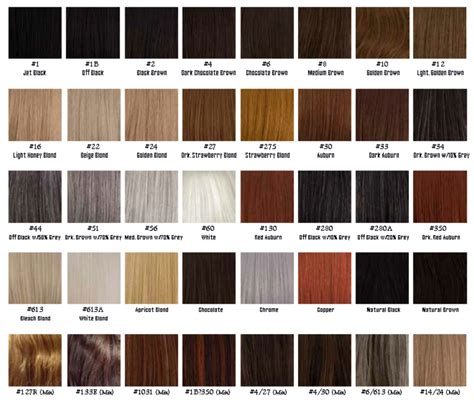 Hair Colors List Pictures by Hair Color Chart Mid K Supply