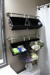 Storage ideas for a small bathroom organizing for Organizing my bathroom