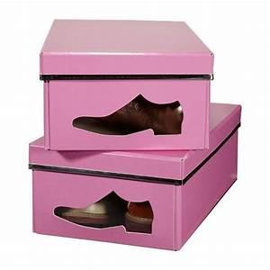 Boite De Rangement Chaussure : boite chaussure pliable thisga ~ Dailycaller-alerts.com Idées de Décoration