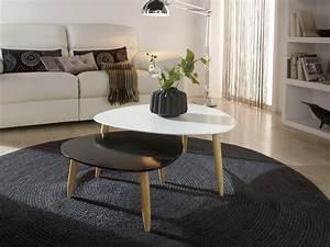 Table Salon Gigogne : table basse gigogne salon le bois chez vous ~ Dallasstarsshop.com Idées de Décoration