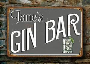 GIN BAR SIGN - Personalized Gin Bar Classic Metal Signs