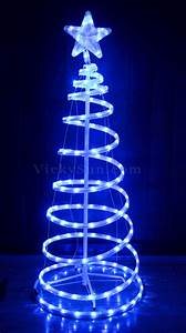 Animated 153CM LED White Blue Christmas Tree and Star ...