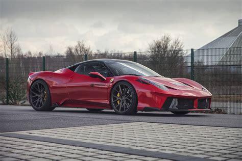 ferrari 458 widebody red prior design ferrari 458 italia widebody gtspirit