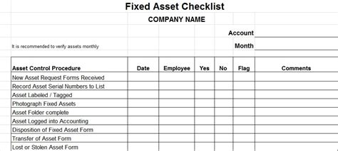 Fixed Asset Policy Template by And Banking Controls Vitalics
