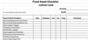 fixed asset checklist vitalics With fixed asset policy template