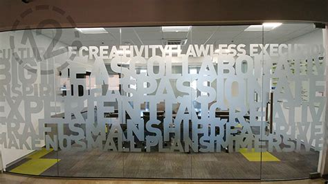 etched glass vinyl  privacy branding decoration