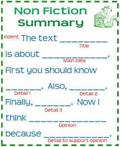 nonfiction summaries images  grade reading