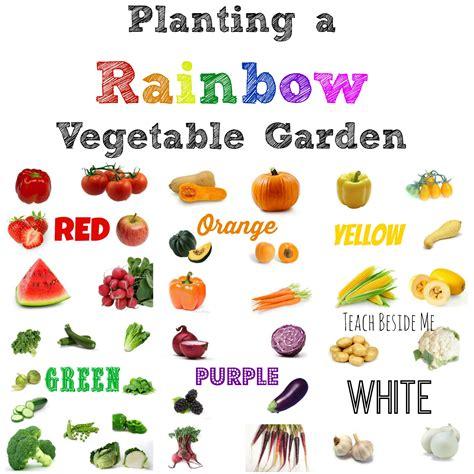 garden vegetables list planting a rainbow vegetable garden teach beside me