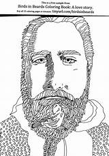Coloring Beard Createspace Books Beards Publishing Self Bearded Colour sketch template
