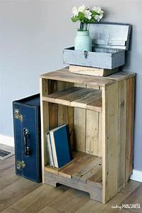 How, To, Make, A, Rustic, Style, Pallet, Wood, Side, Table, Diy, In, 2020