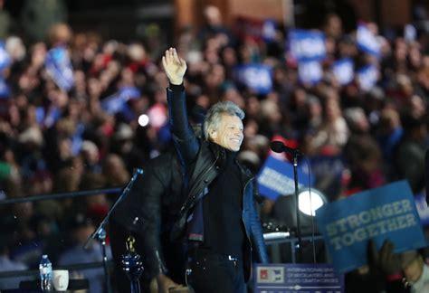Jon Bon Jovi Photos Hillary Clinton Campaigns