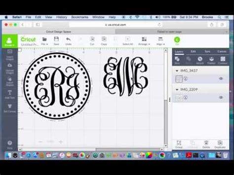 monogram  cricut design software making  monogram  cricut youtube