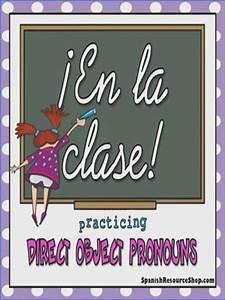 Direct Object Pronouns Spanish Worksheet