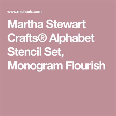 martha stewart crafts alphabet stencil set monogram