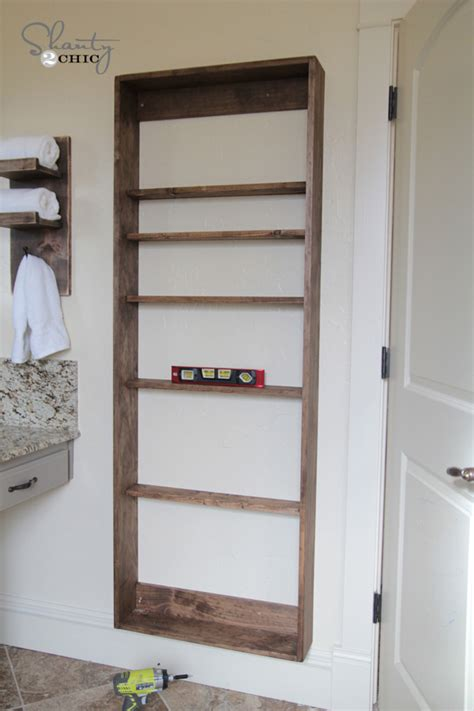 bathroom mirrors with storage ideas diy bathroom mirror storage shanty 2 chic