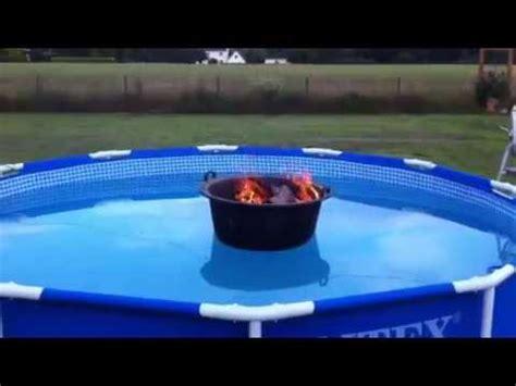 pool heizen mit holz poolheizung selber bauen eigenbau diy intex pool
