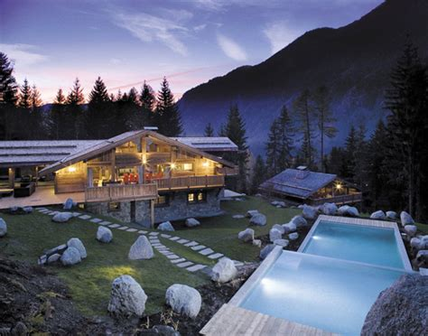 ski chalets alps and exclusive chalet complex in alps
