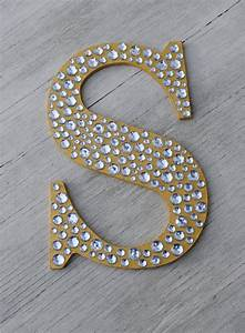 9 sparkle gold bling decorative wall letters wedding With unique wall letters