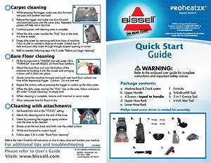 Bissell Proheat 2x Instruction Book