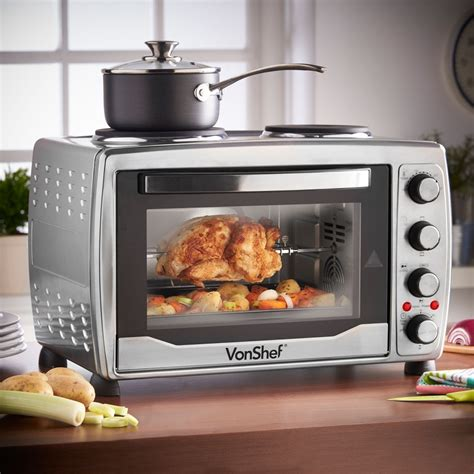 How To Use A Convection Toaster Oven by Vonshef 13217 Large Toaster Oven W Plate For
