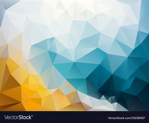 abstract irregular polygon background blue yellow vector image