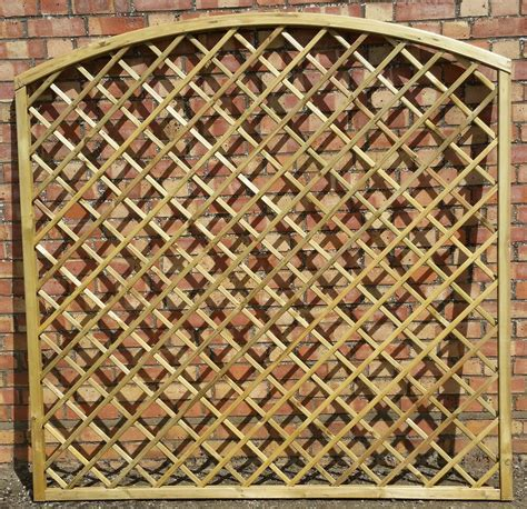 Curved Garden Trellis by Wooden Garden Arched Curved Trellis 180cm 6ft X 180cm 6ft