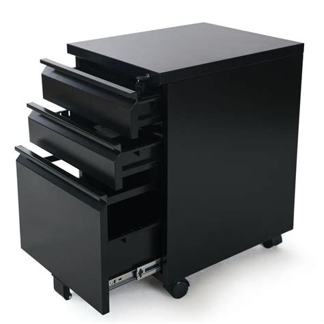 steel drawer cabinet devaise metal black mobile pedestal pp casters with 3