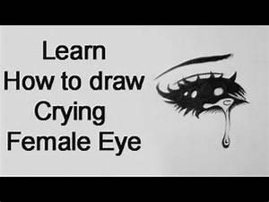 How to draw a Crying Female Manga Eye (Real Time) - YouTube