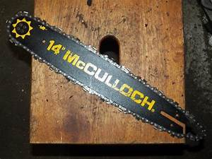 14 U0026quot  3  8 Mini Pitch Mcculloch Chainsaw Bar And Chain Used