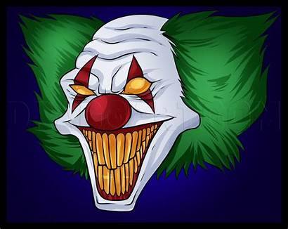 Clowns Draw Killer Scary Clown Drawing Easy