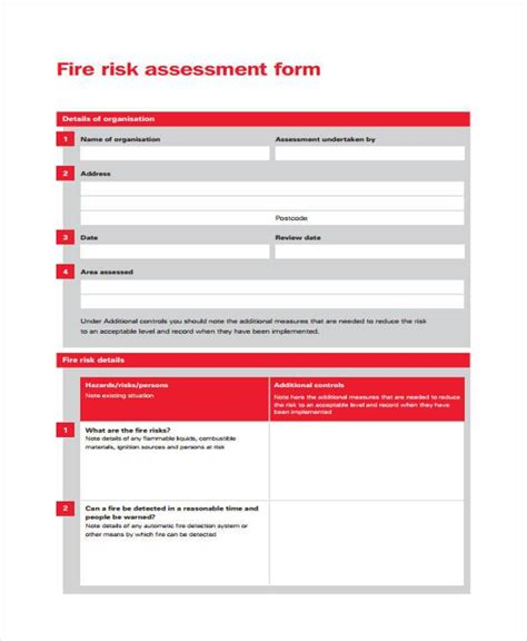 21790 risk assessment form sle sle risk assessment form 28 images 28 risk self