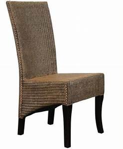 2 chaises restaurant en lloyd loom tresse siege hotel cafe With salle À manger contemporaineavec chaises tressees salle manger