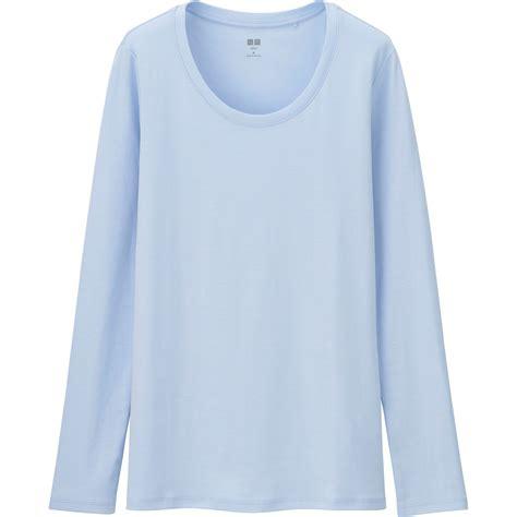 light blue sleeve shirt womens uniqlo s supima r cotton crewneck sleeve t