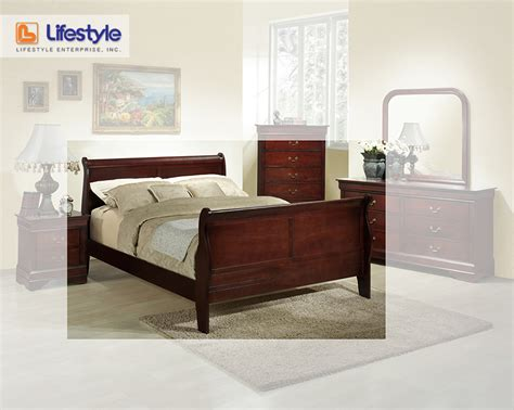 lifestyle brown king sleigh bed5933 10k home